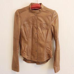 Kenneth Cole Women Genuine Size 2 Leather Jacket